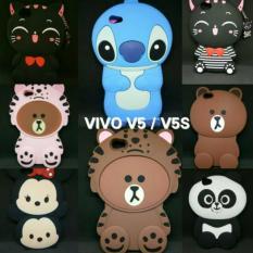 VIVO V5 - V5 LITE - V5s - Y66 - Y67 //BISA 5 TYPE // CASE BONEKA KUCING 3D - JUAL CASING BEKASI