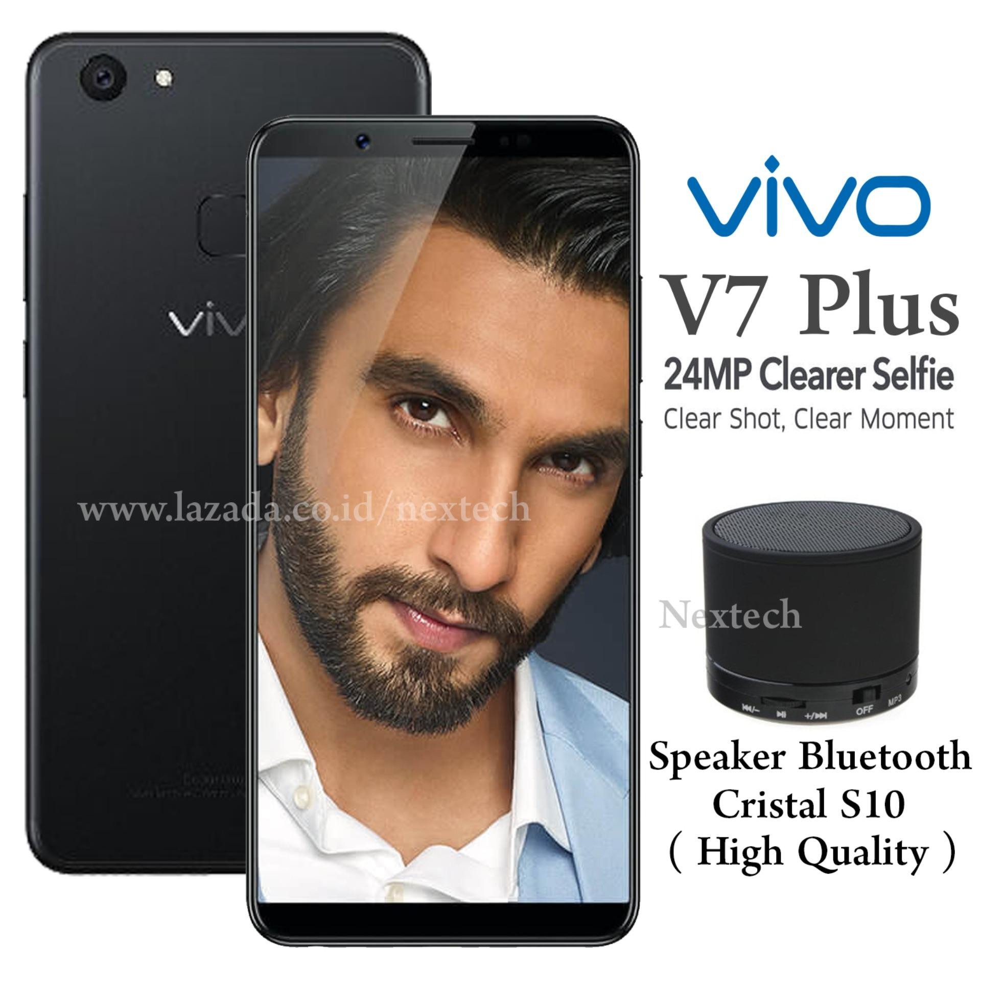 Vivo V7 Plus Front Camera 24Mp Ram 4Gb Rom 64Gb 4G Lte Fingerprint Original