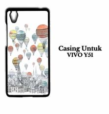 Vivo Y51 Case Up Balloons Hardcase Casing Cover