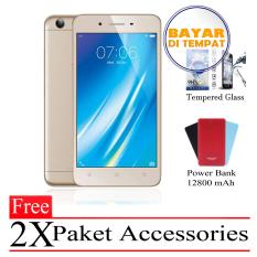 Vivo Y53 Ram 2GB/16GB (Free 2x Paket Accessories) Gold Smartphone