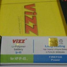 Jual Cepat Vizz Baterai Batt Batre Battery Double Power Vizz Apple Iphone 4S 2030 Mah
