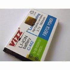 Vizz Baterai Batt Batre Battery Double Power Vizz BB Blackberry CM2 CM-2 Untuk Pearl 8100, Pearl Flip 8220, 8110, 8230 2200 Mah
