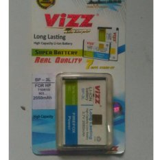 Vizz Baterai Batt Batre Battery Double Power Vizz Nokia BP3L BP-3L Lumia 710, 610, 510, 505, Asha 303, 603 Dan Cross Evercoss A28S, A7T*, C2A