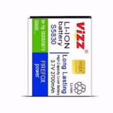 Vizz Baterai Batt Battery Batre Double Power Vizz Samsung Ace S5830, S6310 Young 2, S6102 dan Fame