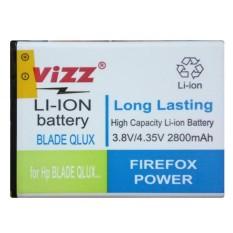 Vizz Baterai Double Power Battery For Zte Blade Q Lux Bolt E1 2800 Mah Diskon Dki Jakarta