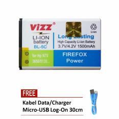 Toko Vizz Battery Bl 5C For Nokia N70 N72 3650 5130 Ngage 2310 X2 Double Power 1500 Mah Free Kabel Micro Usb Flat Original Log On 30Cm Lengkap Di Dki Jakarta