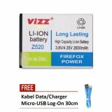 Harga Hemat Vizz Battery For Acer Liquid Z520 Double Power 2600 Mah Free Kabel Micro Usb Flat Original Log On 30Cm