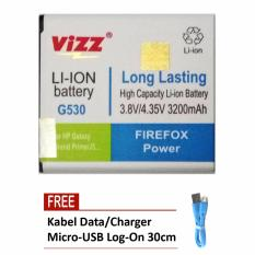 Beli Vizz Battery For Samsung Galaxy Grand Prime G530 Galaxy J5 Double Power 3200Mah Free Kabel Micro Usb Flat Original Log On 30Cm Di Dki Jakarta