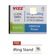 Harga Vizz Battery For Samsung Galaxy Young 2 G130 Double Power 2400 Mah Free Iring Stand Branded