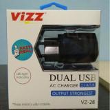 Vizz Charger Tc Adaptor Vizz 2 1 A Ampere Dual Usb Cable Vz 28 Untuk Samsung Oppo Xiomi Redmi Asus Dan Semua Merk Android Black Vizz Diskon 40