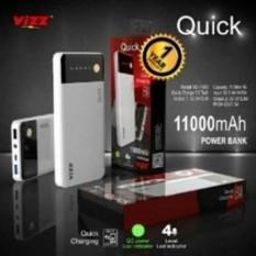 Vizz Powerbank Power Bank Quick 11000 Mah Output 2A Ampere + Kabel Micro USB..