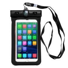 Vodool Umum Kompas Tahan Air Case Tas Tahan Air untuk Telepon Seluler Cocok untuk 4.0-5.8 Inch Ponsel untuk iPhone 7 6 S PLUS 6 Plus 6 S 6 5 S 5 5C 4 S 4 untuk Samsung Galaxy S7 S6 Edge S5-Intl