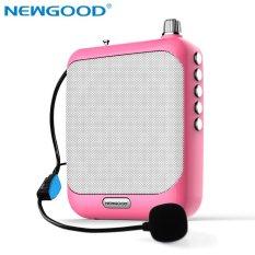 Suara Amplifier Megaphone Booster Mikrofon Mini Portable Speaker dengan USB TF Card FM