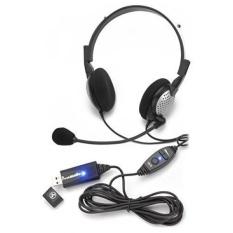Voice Recognition USB Headset dengan Kebisingan Membatalkan Mikrofon untuk Nuansa Dragon Perangkat Lunak Pengenalan Suara-Intl