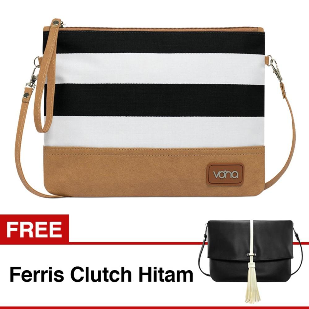 VONA Ava GRATIS FREE Ferris (Hitam) - 2 in 1 Tas Wanita Bahu Slempang Selempang Sling Shoulder Clut