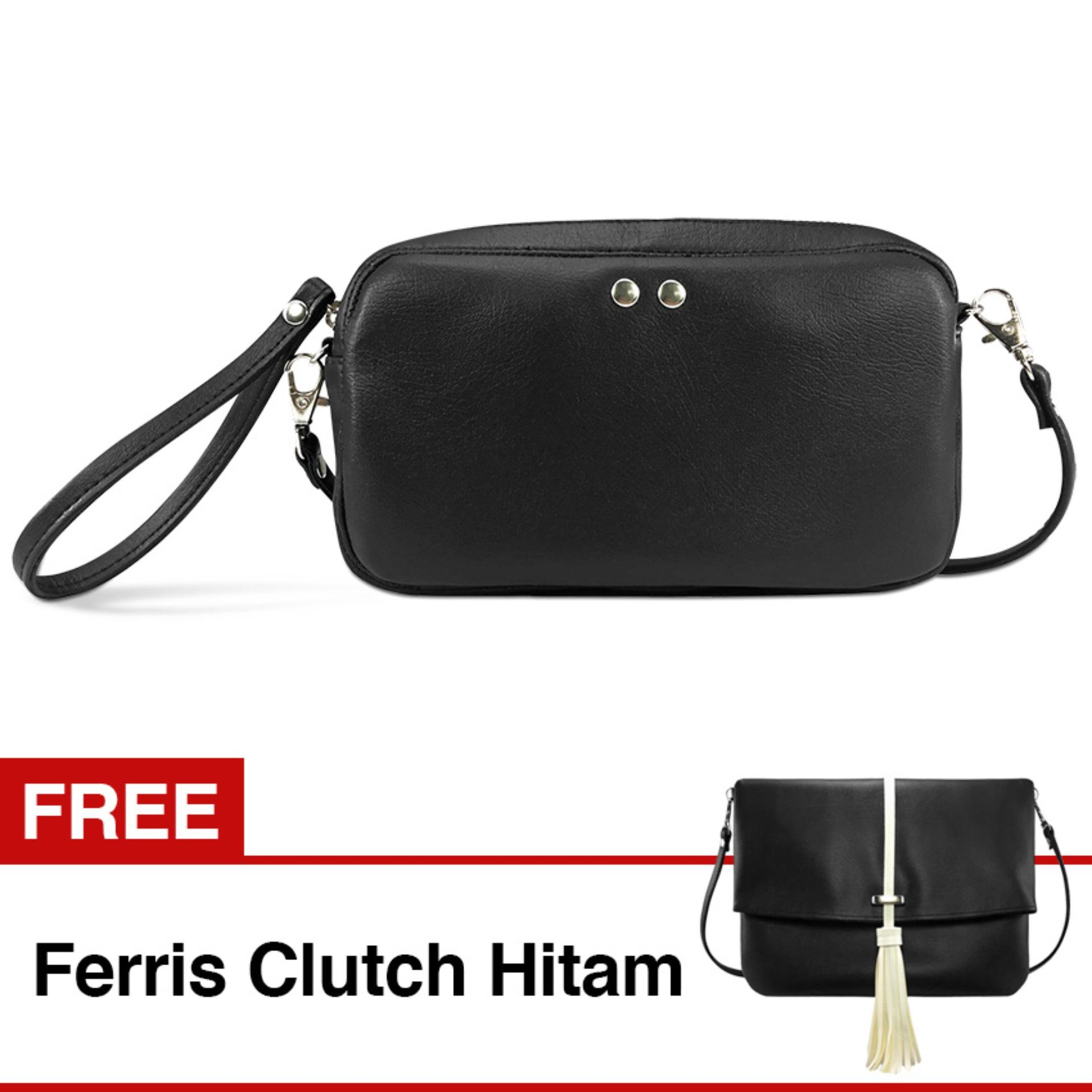 Harga Vona Hopp Gratis Free Ferris Hitam Paket 2 In 1 Tas Wanita Bahu Slempang Selempang Sling Shoulder Clutch Pouch Purse Dompet Handbag Cewe Hand Bag Trendy Best Seller Fashion Crossbody Tote Pu Leather Kulit Sintetis Korean Style Bundling Buy 1 Get 1 Vona Terbaik