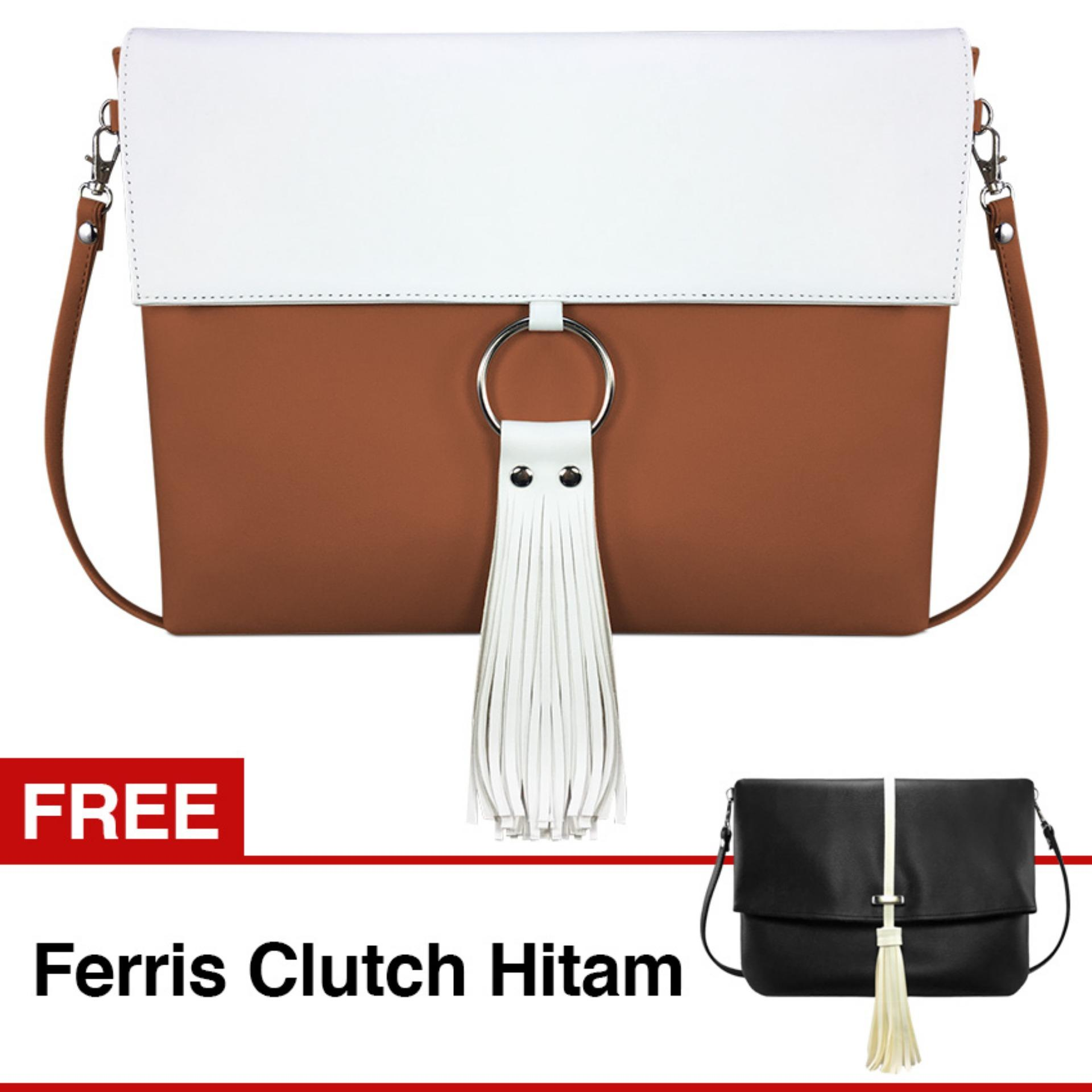 Spesifikasi Vona Robin Gratis Free Ferris Hitam Paket 2 In 1 Tas Wanita Selempang Tangan Shoulder Bag Handbag Sling Crossbody Tote Dompet Slingbag Purse Clutch Faux Pu Leather Kulit Sintetis Tali Panjang Best Seller Terbaru New Branded Fashion Korean Style Vona Terbaru