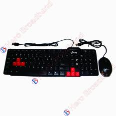 VOTRE Keyboard USB KB2308 + Mouse Optic Lampu USB
