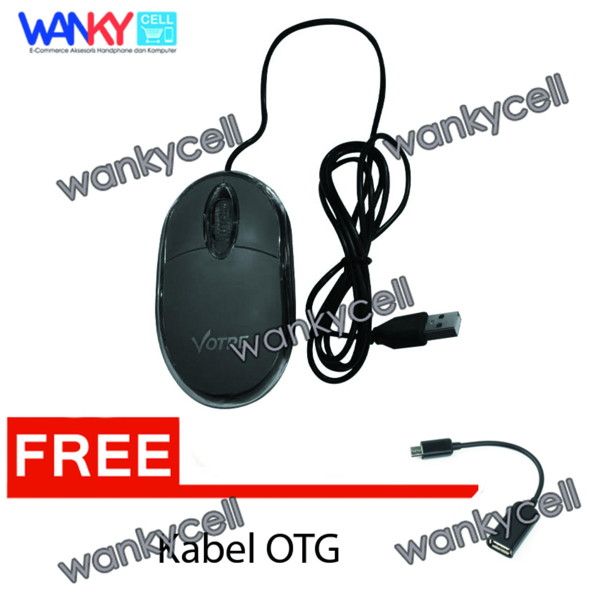 Cuci Gudang Votre Mouse Optic Usb Hitam Gratis Otg