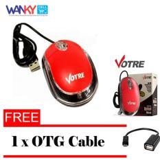 Votre Mouse Optic USB Merah + Gratis OTG