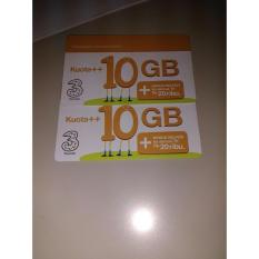 Jual Voucher Three Tri 3 Aon 10Gb Kuota Data Internet 10 Gb Vocer Voucer Branded Original