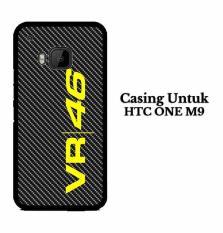 vr 46 logo carbon HTC ONE M9 Custom Case Hardcase