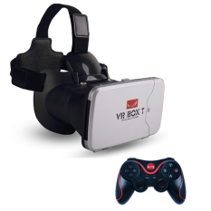 Vr Box T play more VR game with fingertip control 3d vr glasses riem 3 cardboard (VBT+T3)