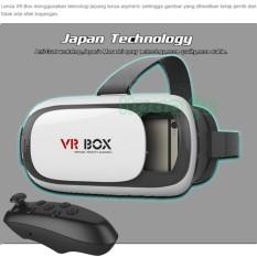 VR Box 3D Virtual Reality Generasi 2 Lensa Teknologi Japan + Remote  - Kompatibel Hp 4 - 6 Inch