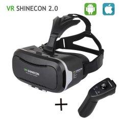VR SHINECON II 2.0 VR Headset, VR Goggles 3D VR Kacamata Virtual Reality VR BOX untuk 4.7-6 Imch Smartphone + Gamepad-Intl