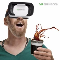 Ulasan Lengkap Tentang Vr Shinecon® 3D Virtual Reality Ponsel Smart Vr Box Kacamata Home Theater Play Game Helm Putih Intl