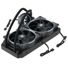 VTG240 Liquid Freezer Water Liquid Cooling System CPU Cooler Fluid Dynamic Bearing 120mm Dual Fans with Blue LED Light - intl