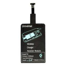 VZTEC Qi Kartu Receiver Charger Tanpa Kabel Wireless Card Charging Reverse Micro USB HP Handphone Smartphone