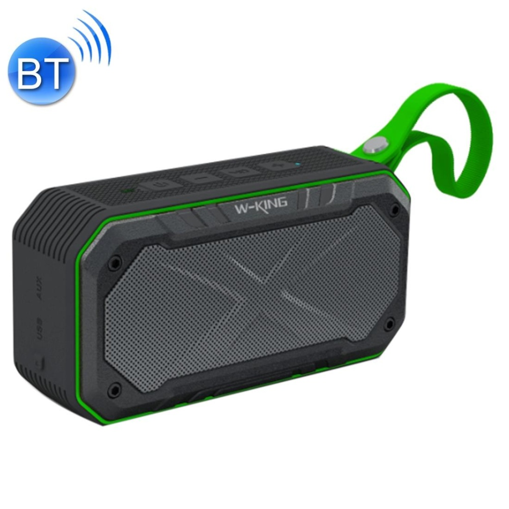 Jual W King S18 Outdoor Portable Waterproof Dustproof Dropproof Bluetooth 4 1 Stereo Sepeda Speaker With Built In Mic And Lanyard Mendukung Hands Free And Aux In And Tf Kartu And Fm And Mp3 Jarak Bluetooth 10 M Hijau Branded Murah
