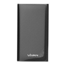 W9 9000mAh 2 USB Ports Power Bank Black