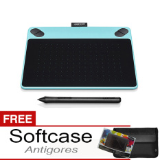 Review Wacom Intuos Art Cth 490 Pen Touch Small Mint Blue Gratis Softcase Antigores