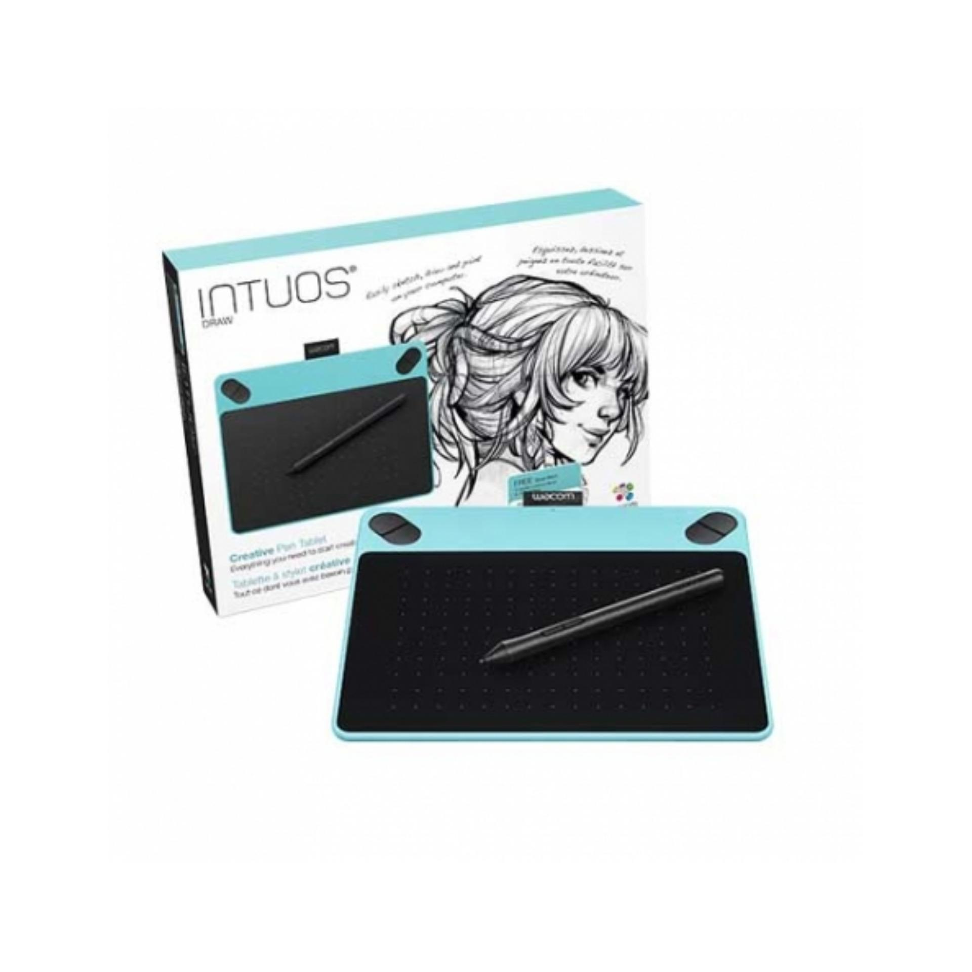 Harga Wacom Intuos Draw Ctl490 Pen Tablet White Blue Original