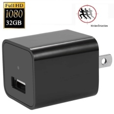 Jual Cepat Wall Charger Hidden Spy Camera 1080P Hd Usb Nanny Spy Camerawith8Gb Internal Memory Motion Detection Ac Wall Plug Adapter M1 Intl