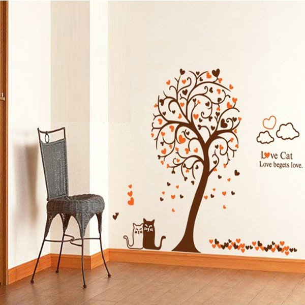 Diskon Wall Sticker Stiker Dinding Romantic Tree And Cat Ay9017 Multicolor Wall Sticker Dki Jakarta