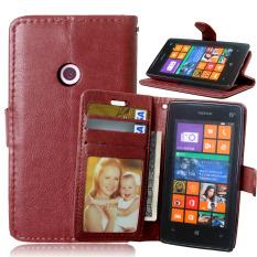 Case Fitur Dompet Stan For Nokia Lumia 520 N520 (Maroon)