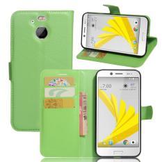Dompet Flip Leather Case untuk HTC 10 EVO/HTC Bolt (Hijau)-Intl