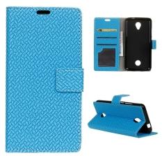 Dompet Penutup Dudukan Flip Case Kulit untuk Acer Liquid Zest Z525-Biru-Intl