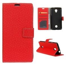Dompet Penutup Dudukan Flip Case Kulit untuk Acer Liquid Zest Z525-Merah-Intl