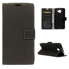 Wallet Leather Case Flip Stand Cover for Alcatel OneTouch Idol 4S - Black - intl