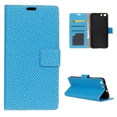 Wallet Leather Case Flip Stand Cover for Alcatel OneTouch X1 7053D - Blue - intl
