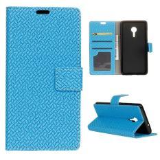 Dompet Leather Case Flip Stand Cover untuk Lenovo VIBE Z2 Pro/K920-Biru-Intl