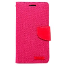 Ulasan Mengenai Wallet Mercury Canvas For Xiaomi Redmi 2S Merah Muda