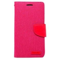 Spesifikasi Wallet Mercury Canvas For Xiaomi Redmi 2S Merah Muda Lengkap