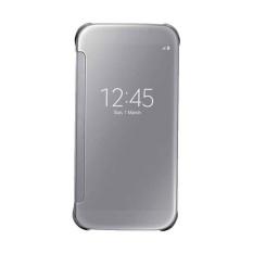 Promo Wallet Mirror View Flip Cover Oppo A39 New Silver Akhir Tahun