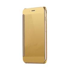 Toko Wallet Mirror View Flip Cover Samsung Galaxy A520 A5 2017 Gold Lengkap