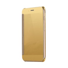 Wallet Mirror View Flip Cover Samsung Galaxy A910/A9 2016  - Gold